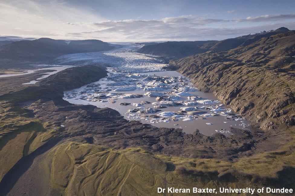 Hoffellsjökull glacier in 2017