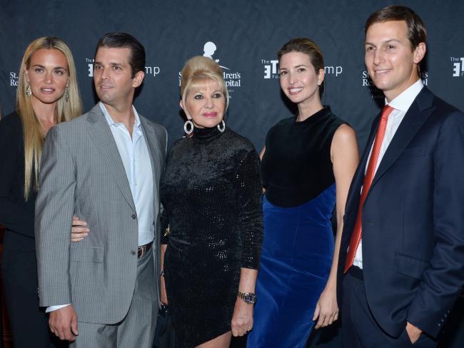 Vanessa Trump, Donald Trump Jr., Ivana Trump, Ivanka Trump and Jared Kushner in 2015.