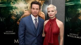 Mark Wahlberg (L) and Michelle Williams at the premiere of All The Money In The World on December 18, 2017 in Beverly Hills, California.
