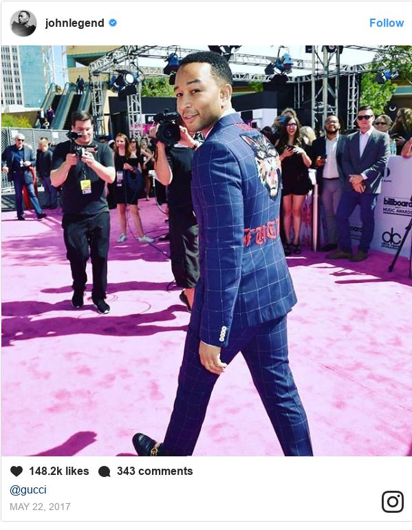 Instagram post by johnlegend: @gucci