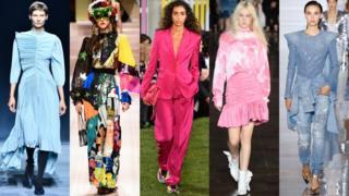 L-R: Givenchy, Dolce + Gabbana, Escada, MSGM, Balmain