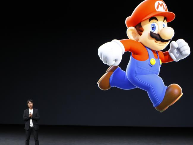 Super Mario creator Shigeru Miyamoto at the Apple launch event. Picture: Stephen Lam/Getty Images/AFP