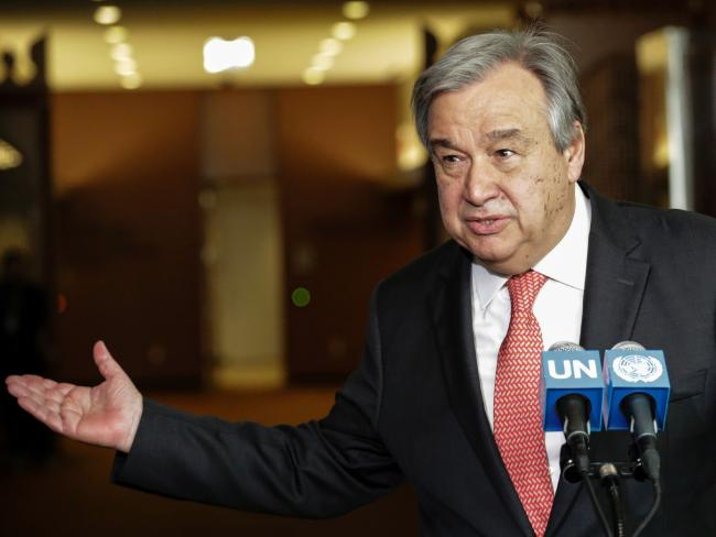 Antonio Guterres speaking is the next secretary-general of the United Nations. Picture: AFP