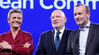 Rivals for EU Commission presidency, in Brussels debate, 15 May 19