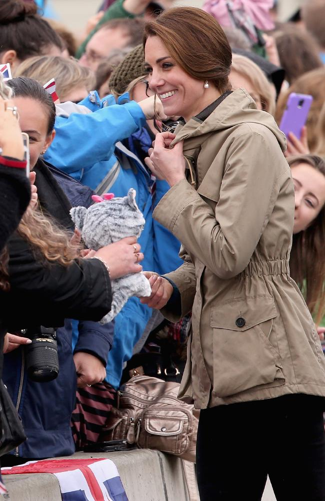 A hit with the crowds. Kate meets members of the public after her sailing adventures were done. Picture: Chris Jackson/Getty Images