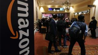 Amazon displays its wares at the latest Consumer Electronic Show