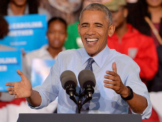US President Barack Obama campaigns on behalf of Democratic presidential nominee Hillary Clinton in Greensboro, North Carolina. Picture: Getty