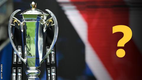 The Six nations trophy and a question mark