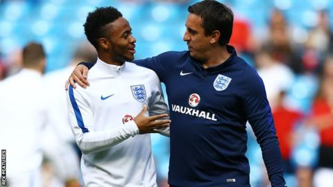 Gary Neville coached Raheem Sterling with England at Euro 2016