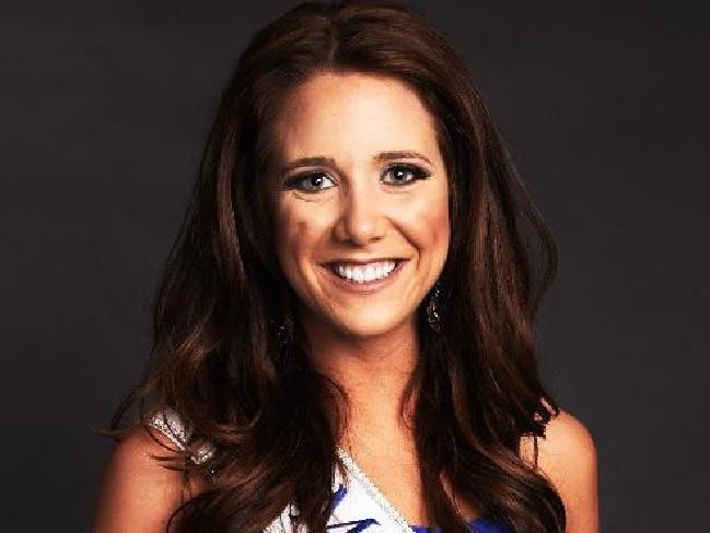 Miss South Dakota Julia Caroline Olson wants to meet footballer Tim Tebow. Picture: Twitter