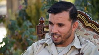 In this photo taken on January 2, 2018, Afghan General Abdul Raziq, police chief of Kandahar, looks on as he speaks during a press conference in Kandahar province