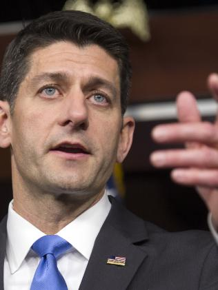 """House Speaker Paul Ryan said he was """"sickened"""" by Donald Trump's comments. Picture: AP"""