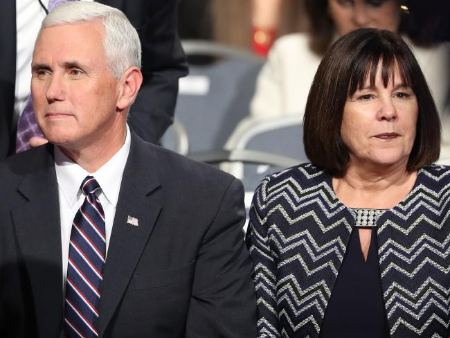 Republican candidate for Vice President Mike Pence and his wife Karen Pence were furious. Picture: AFP