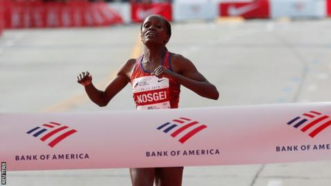 Brigid Kosgei sets a new world record
