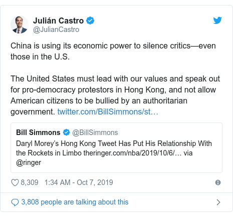 Twitter post by @tedcruz: We're better than this; human rights shouldn't be for sale  the NBA shouldn't be assisting Chinese communist censorship.