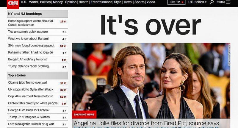 Angelina Jolie files for dicorce from Brad Pitt after 12 years together amnd asks for custody all their six children