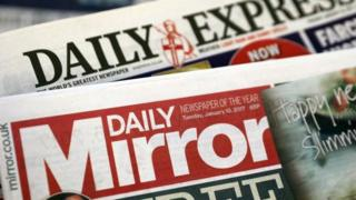 Daily Mirror and Daily Express