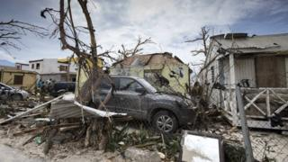 A handout photo from the Dutch Department of Defense shows damaged caused by Hurricane Iram on St. Martin.