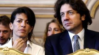 Italian right-to-die activist Marco Cappato (R) and DJ Fabo's former girlfriend Valeria Imbrogno (L) during the public hearing of the Constitutional Court on the constitutionality of aid for suicide, in Rome, Italy, 24 September 2019