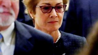 Former U.S. ambassador to Ukraine Marie Yovanovitch arrives to testify in the U.S. House of Representatives impeachment inquiry into U.S. President Trump on Capitol Hill in Washington, U.S., October 11, 2019