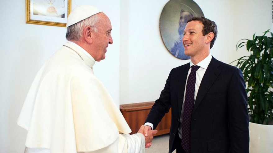 Pope Francis has face-to-face meeting with Facebook mogul Zuckerberg