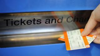 Train tickets coming out of machine