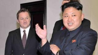 Michael Spavor with North Korean leader Kim Jong-un (2013)