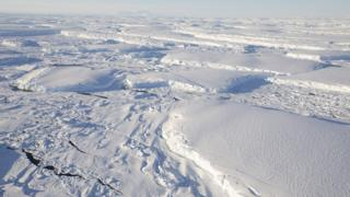 aerial view of ice