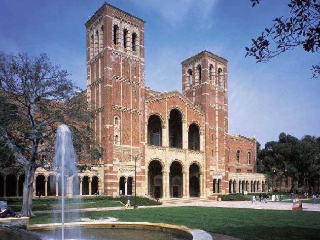 UCLA has a beautiful campus but it looks like it might be a nightmare for poor Winnie. Picture: Supplied