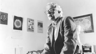 Brooklyn-born Bernie Sanders, Mayor of Burlington, Vermont, in his office at City Hall on 1 March, 1985