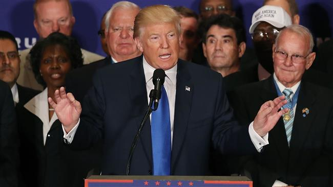 Surrounded by military veterans US Republican presidential nominee Donald Trump says President Barack Obama was born in the United States during a campaign event at the Trump International Hotel