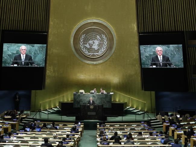 Australian Prime Minister Malcolm Turnbull says Russia needs to work with the US to achieve peace in Syria. Picture: AP