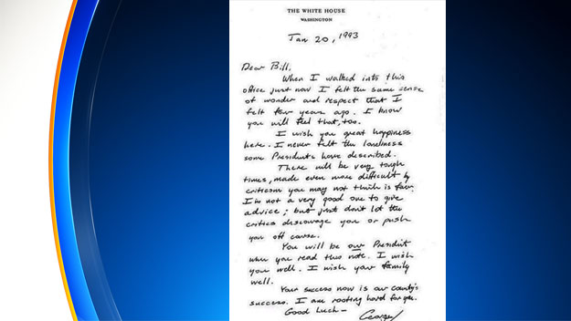 George H.W. Bush Letter To Bill Clinton