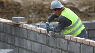 A bricklayer in Bristol