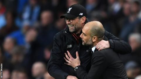 Jurgen Klopp (left) and Pep Guardiola (right)