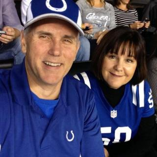 Vice-President Mike Pence and Second Lady Karen Pence at a Colts game