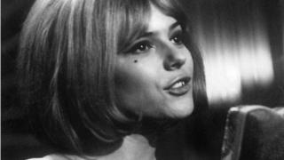 File photo taken on 1 March 1965 shows French singer France Gall performing during the Eurovision show.