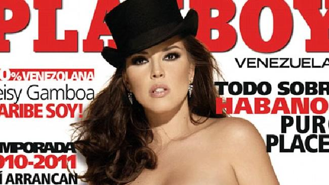 Ms Machado became the first Miss Universe winner to pose for Playboy.