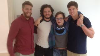 Kit Harington with his cousins