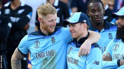 Ben Stokes and Eoin Morgan