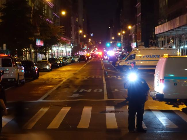 The explosion in New York's Chelsea neighbourhood injured multiple people. Picture: AFP / William Edwards