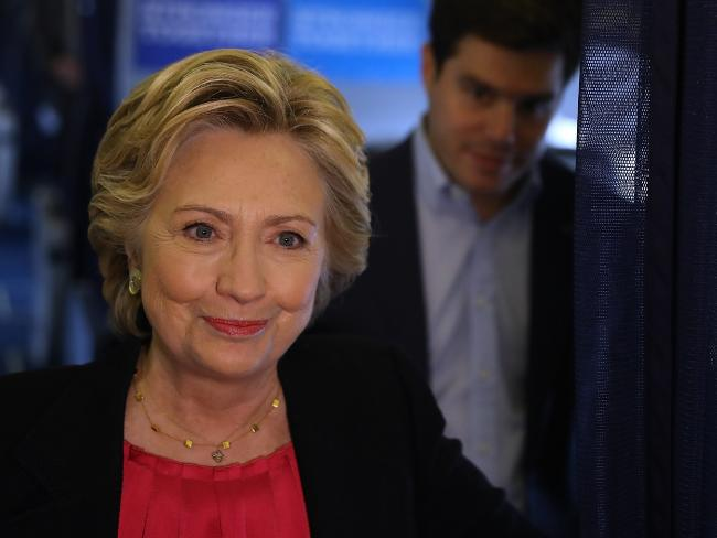 Democratic presidential nominee and former US Secretary of State Hillary Clinton has increased her lead in the national polls published by the New York Times. Picture: Justin Sullivan / Getty Images / AFP