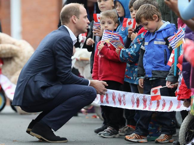 Prince William visits the Cridge Centre for the Family on the final day of the Royal Tour. Picture: Chris Jackson/Getty Images