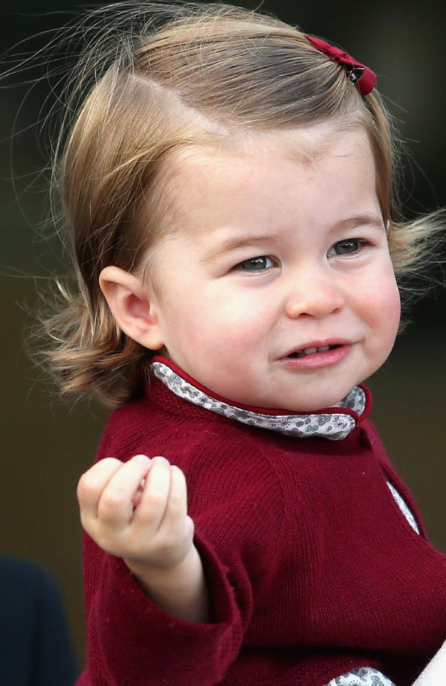 Dressed in a richly-coloured cardigan, Charlotte looked every inch the princess on the docks at Victoria Harbour. Picture: Chris Jackson/Getty Images