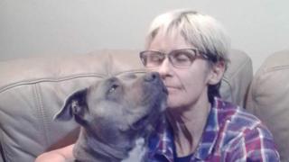 Tamra McBeath-Riley and her dog Raya