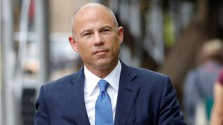 Attorney Michael Avenatti arrives at United States Court