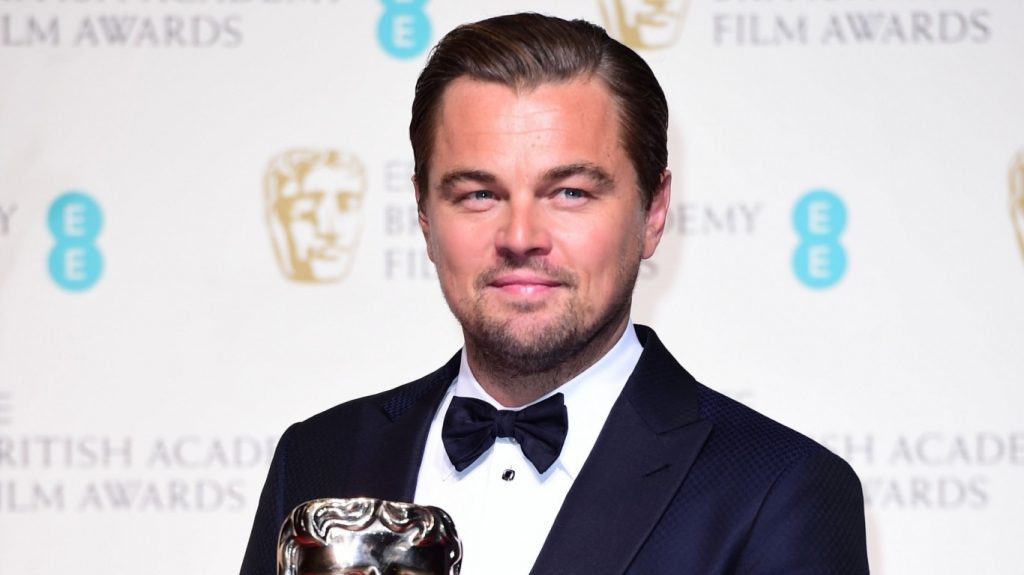Watch Leonardo Di Caprio react to winning his first Bafta Award