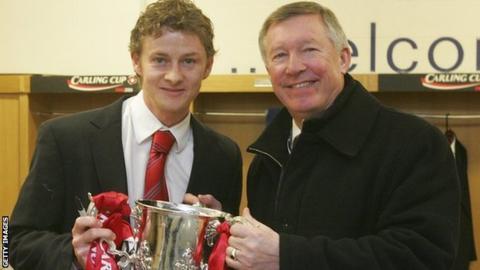 Ole Gunnar Solskjaer and Sir Alex Ferguson in 2006