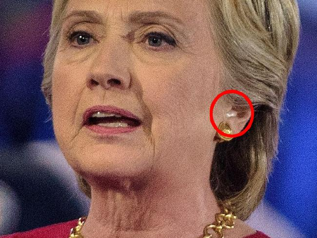 Is that an earpiece, or just a piece of an ear? The pic that got Trump's fans so worked up.