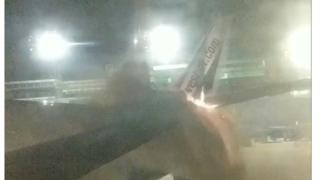 Passenger photo shows fire on Sunwing plane's tail